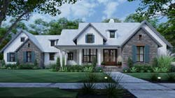 Modern-Farmhouse Style House Plans Plan: 61-219