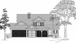 Farm Style Home Design Plan: 62-106