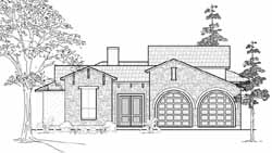 Tuscan Style House Plans Plan: 62-134