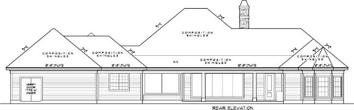 Rear Elevation Plan: 62-136