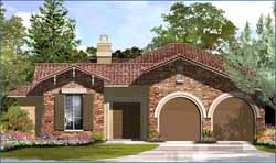 Spanish Style Home Design Plan: 62-156