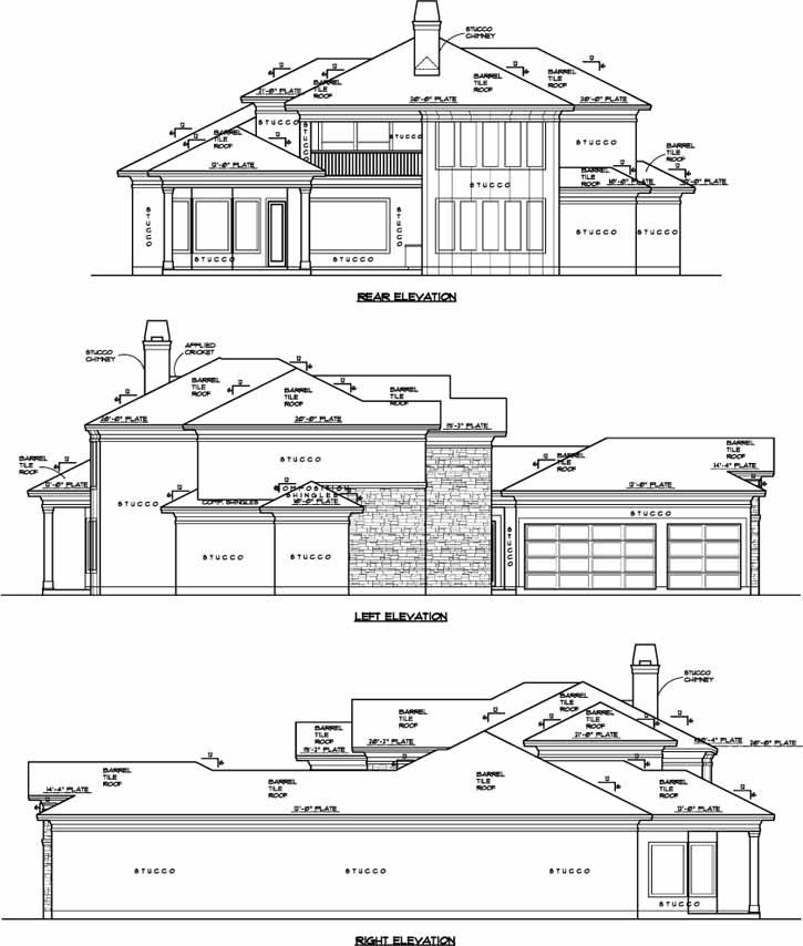 Rear Elevations Plan:62-184