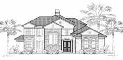 Tuscan Style House Plans Plan: 62-184