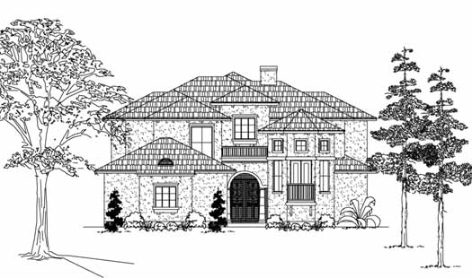 Spanish Style House Plans Plan: 62-190