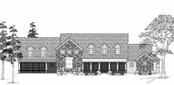 Country Style Home Design Plan: 62-193