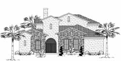 Tuscan Style Home Design Plan: 62-204