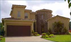 Spanish Style Home Design Plan: 62-206