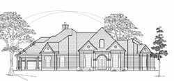Traditional Style Home Design Plan: 62-211