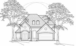 Traditional Style Home Design Plan: 62-213