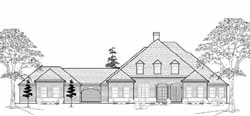 Country Style Home Design Plan: 62-219