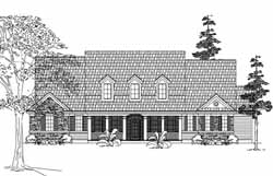 Country Style Home Design Plan: 62-220