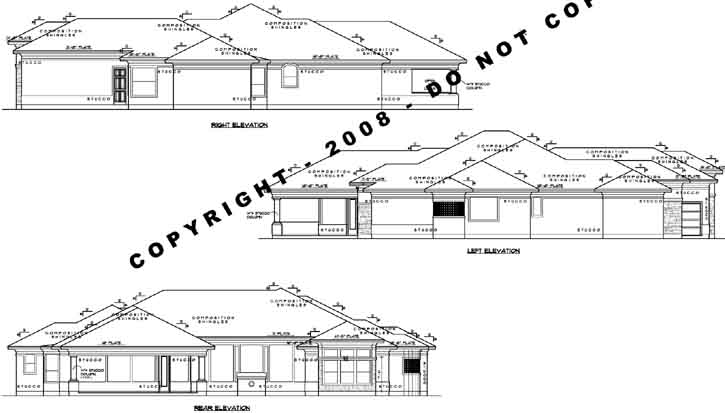 Rear Elevation Plan: 62-227