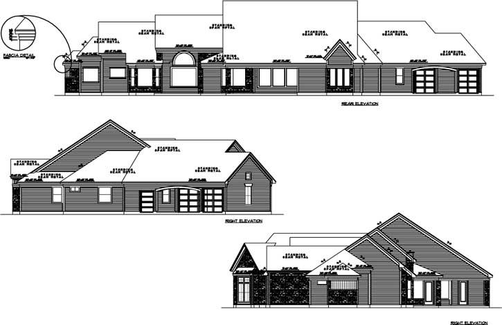 Rear Elevation Plan: 62-231