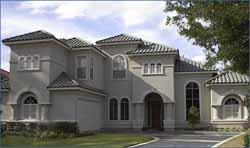 Mediterranean Style Home Design Plan: 62-249