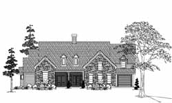 Farm Style Home Design Plan: 62-269