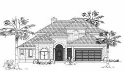 Mediterranean Style House Plans Plan: 62-275