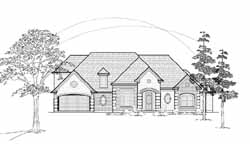 Traditional Style Home Design Plan: 62-276