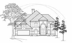Mediterranean Style Home Design Plan: 62-292
