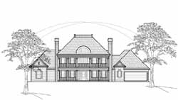 Southern-Colonial Style House Plans Plan: 62-294
