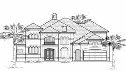 Mediterranean Style Home Design Plan: 62-298