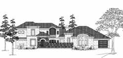 Mediterranean Style House Plans Plan: 62-299