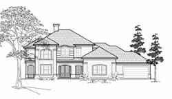 Mediterranean Style Home Design Plan: 62-302
