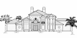 Mediterranean Style House Plans Plan: 62-304