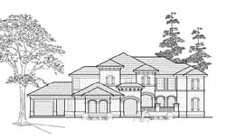 Mediterranean Style House Plans Plan: 62-305