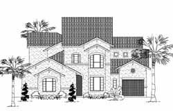 Mediterranean Style House Plans Plan: 62-309