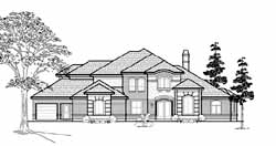 Traditional Style Home Design Plan: 62-326