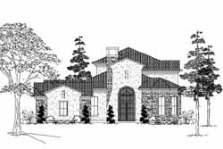 Spanish Style House Plans Plan: 62-331