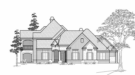 Traditional Style Home Design Plan: 62-336
