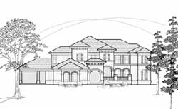Mediterranean Style House Plans Plan: 62-337