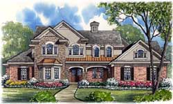 Traditional Style Home Design 62-338