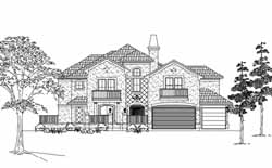 Mediterranean Style House Plans Plan: 62-339