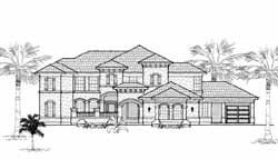 Mediterranean Style Home Design Plan: 62-340