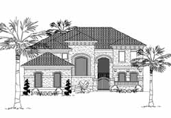 Mediterranean Style House Plans Plan: 62-341