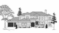 Mediterranean Style House Plans Plan: 62-342