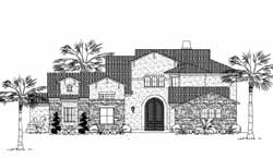 Italian Style Floor Plans Plan: 62-343
