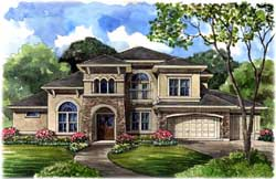 Mediterranean Style House Plans Plan: 62-346