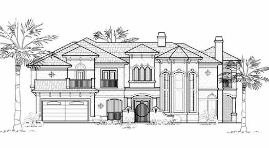 Mediterranean Style House Plans Plan: 62-350