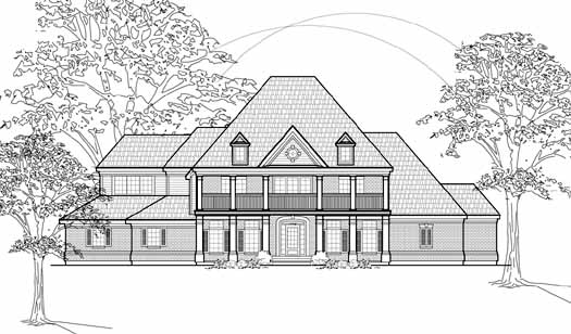 Southern-colonial Style Home Design Plan: 62-351