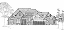 French-Country Style House Plans Plan: 62-352