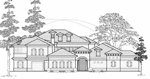 Mediterranean Style House Plans Plan: 62-353