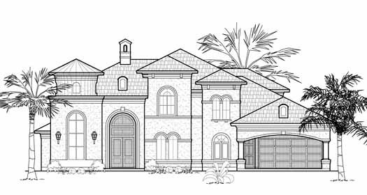 Mediterranean Style House Plans Plan: 62-354