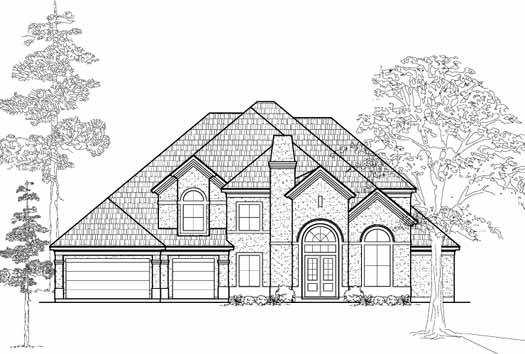 Traditional Style Home Design Plan: 62-356