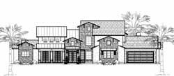 Tuscan Style Home Design Plan: 62-357