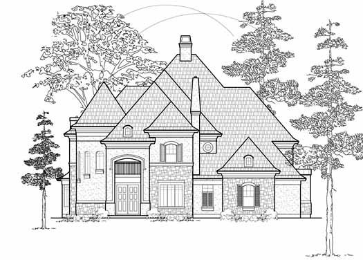 European Style House Plans Plan: 62-367