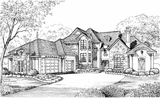 French-Country Style House Plans Plan: 62-368