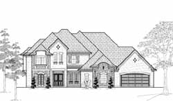 French-Country Style Floor Plans Plan: 62-383
